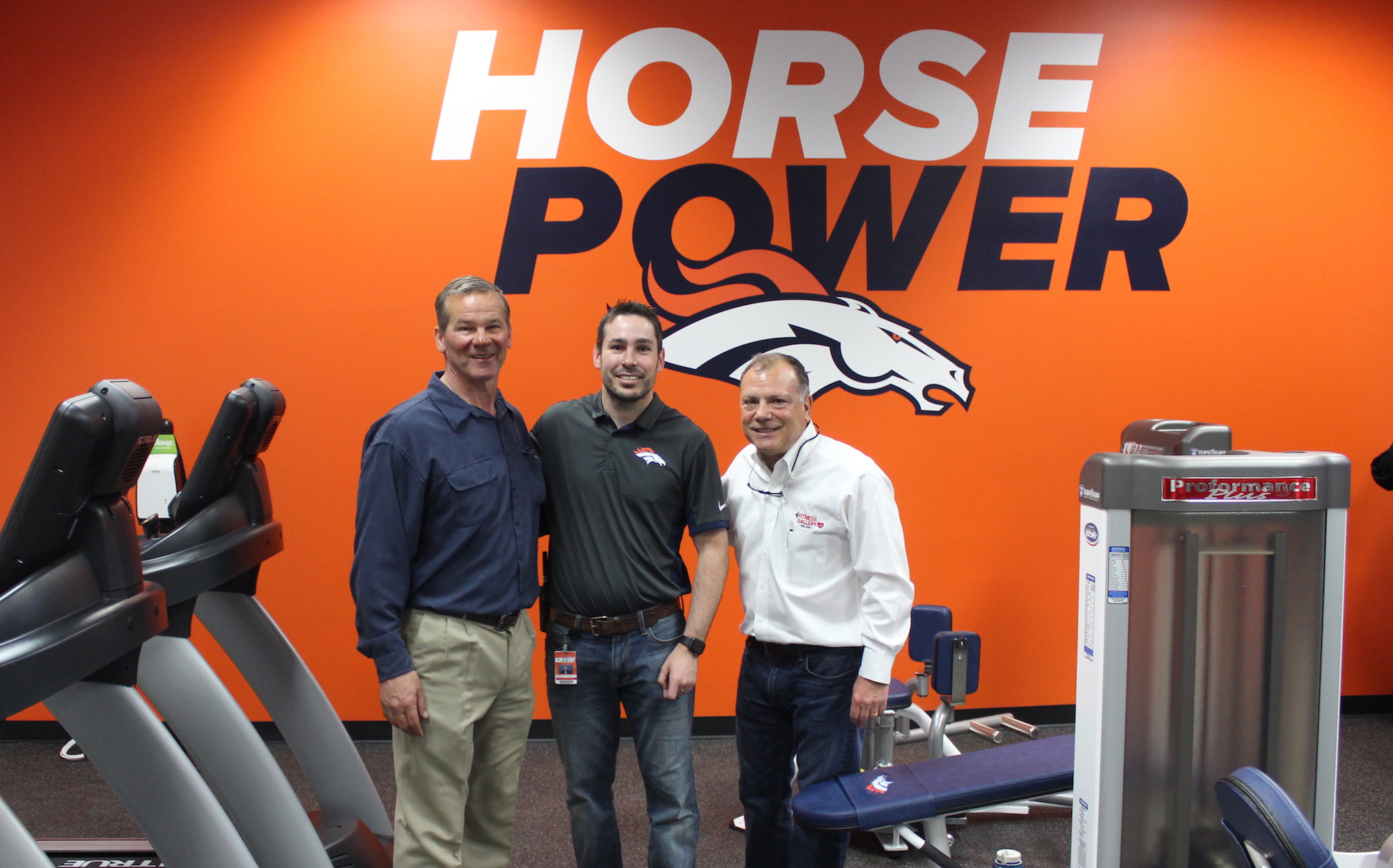 Fitness Gallery Adds TuffStuff Proformance Plus to Denver Broncos Stadium Room Gym
