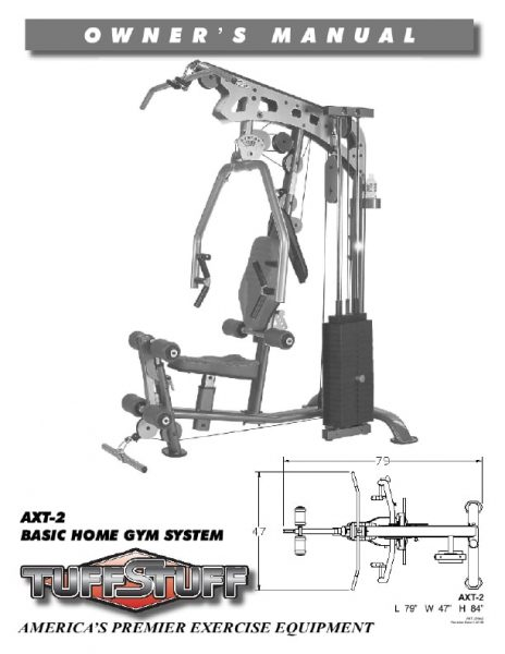 TuffStuff AXT 2 Home Gym Owner's Manual