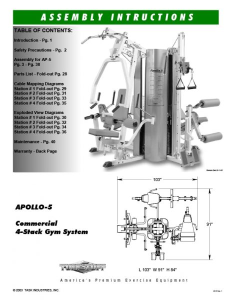 Apollo 5 Gym System (AP-5) Owner's Manual