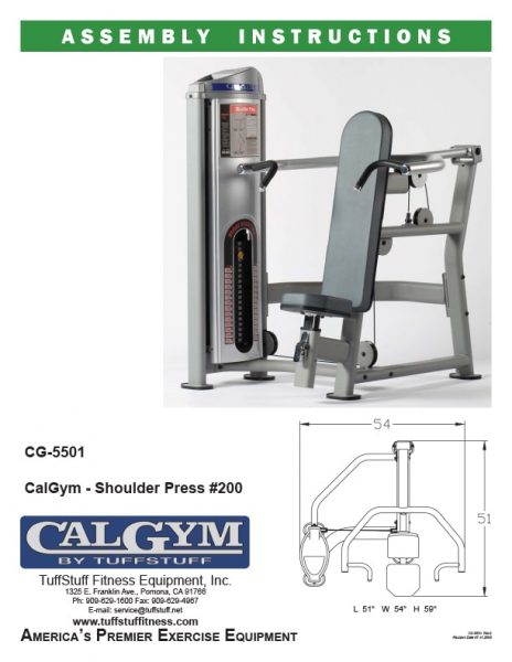 CalGym Shoulder Press (CG-5501)