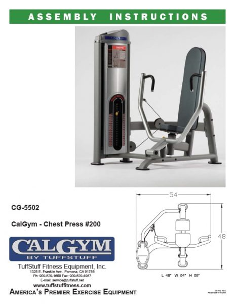 CalGym Chest Press (CG-5502)
