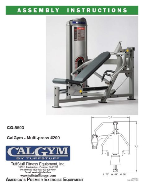 CalGym Multi-Press (CG-5503)
