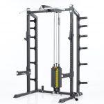 CalGym Half Rack Hi/Low Pulley System - 200 lb wt stack (CG-8827)