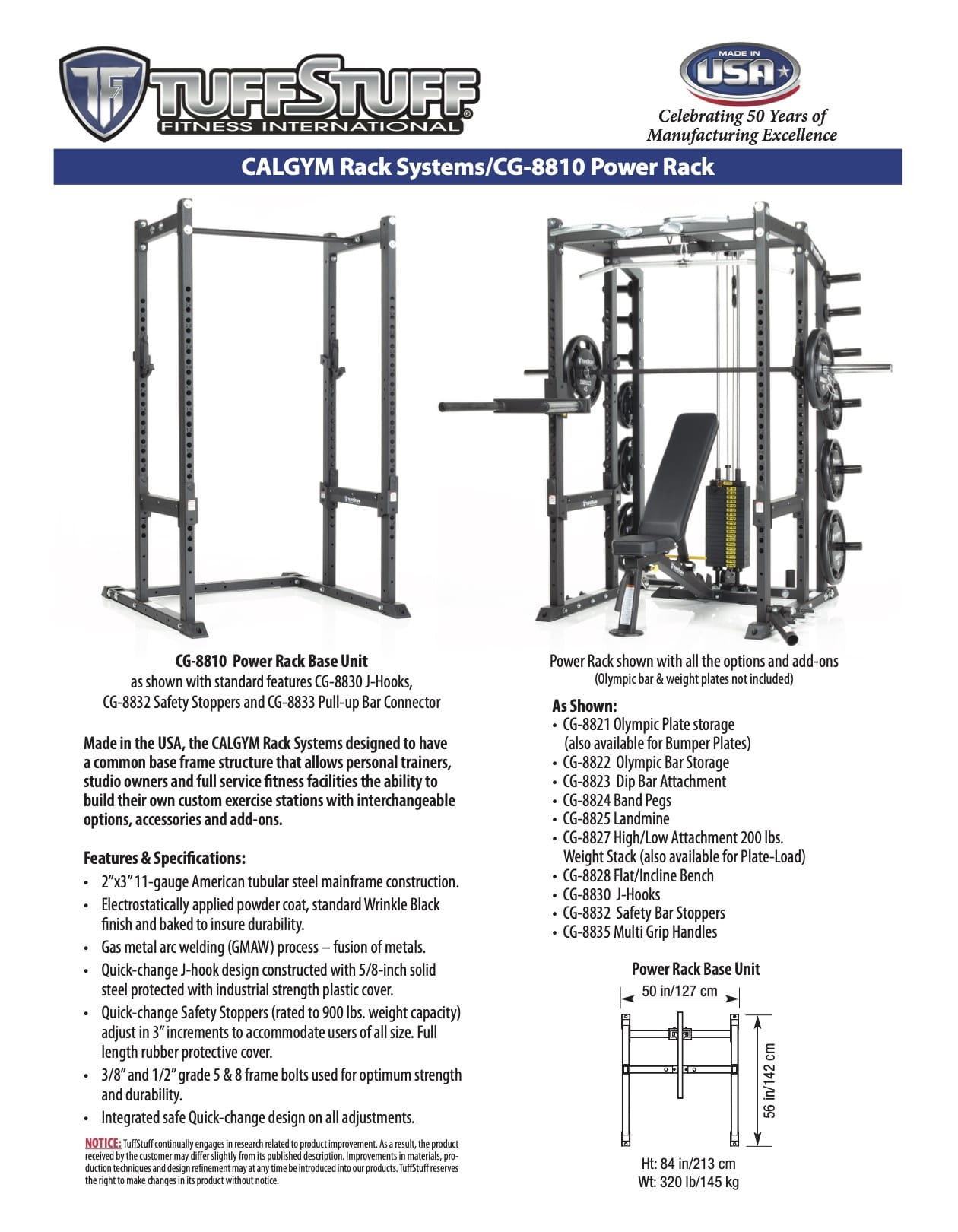 CalGym Power Rack (CG-8810) Product Overview