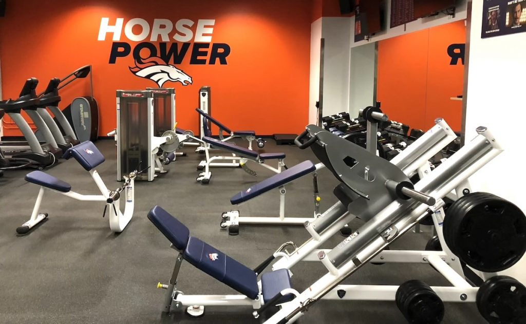 Denver Broncos Stadium Room Gym Leg Press