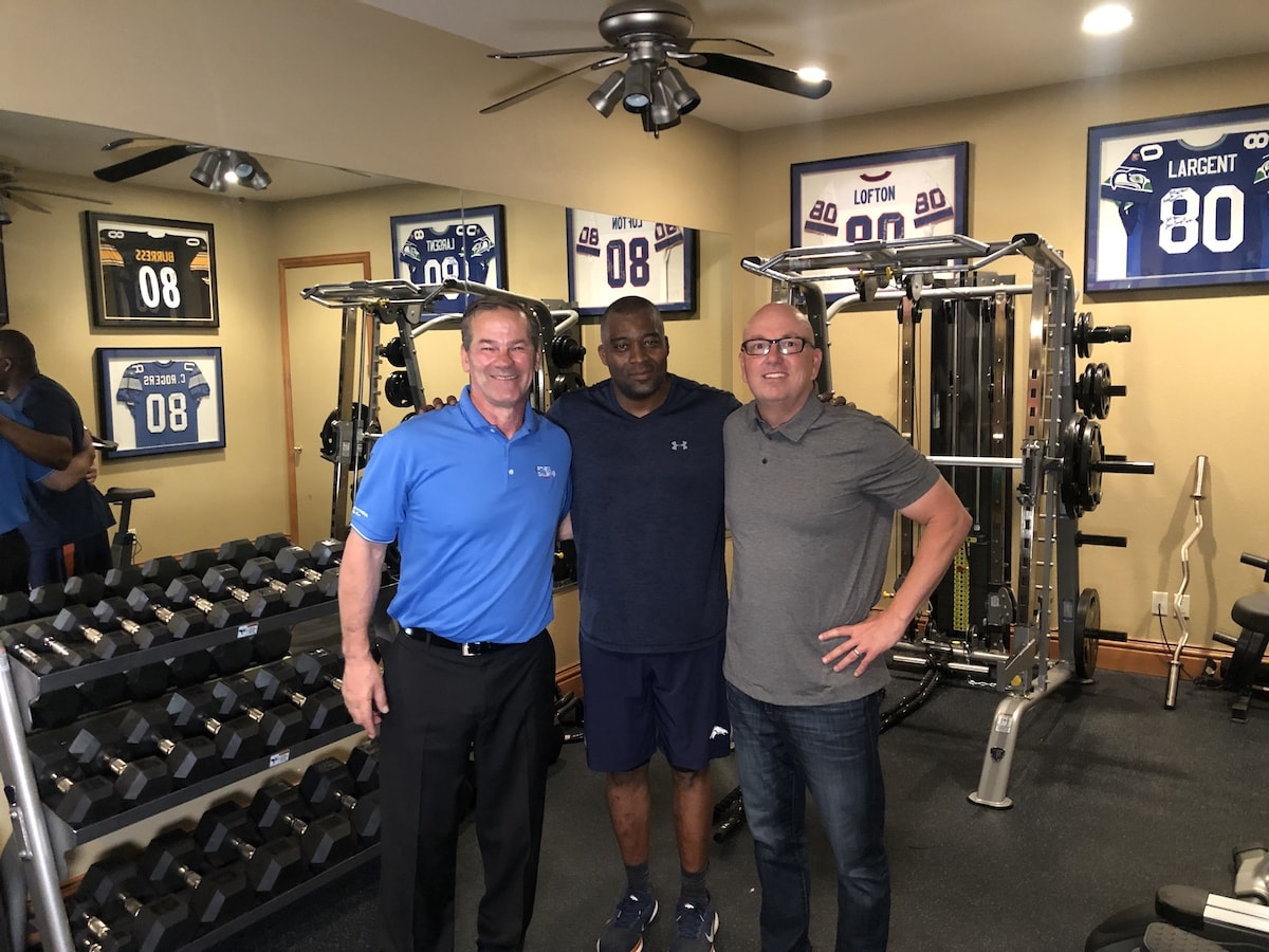 Donny Salum and Michael Shanks visit Rod Smith Home Gym