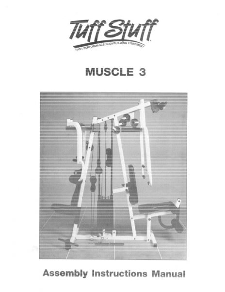 TuffStuff Muscle 3 Home Gym Owner's Manual
