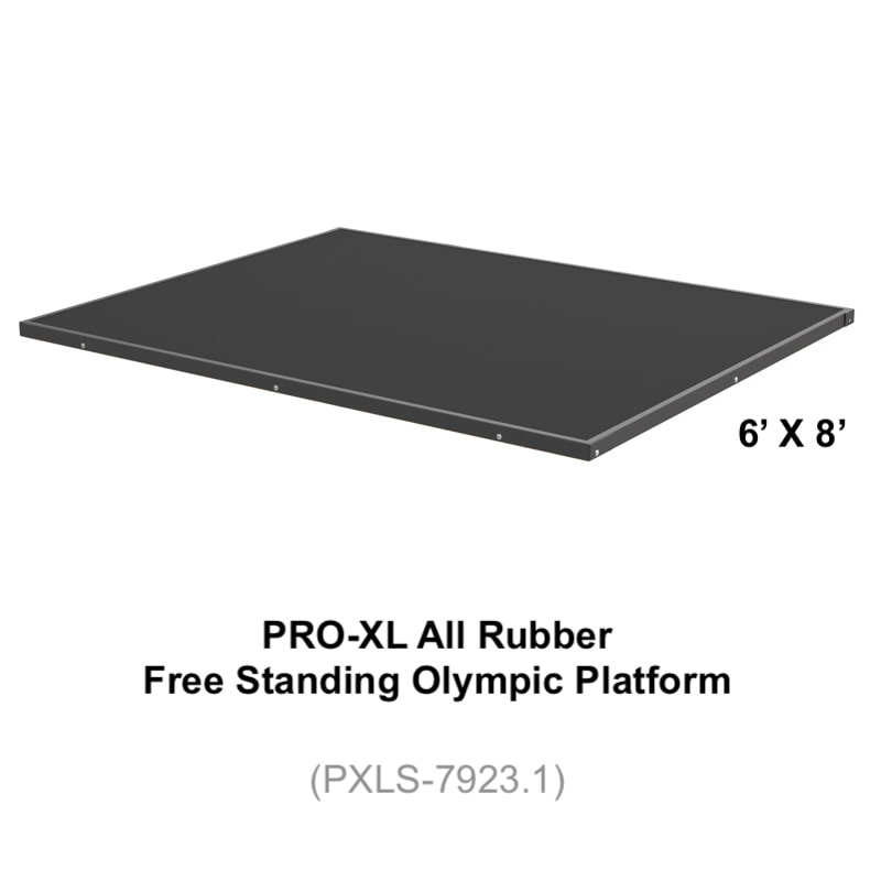 Free Standing Olympic Platform (PXLS-7923.1) All Rubber