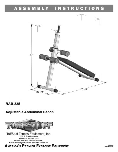 Adjustable Abdominal Bench (RAB-335)