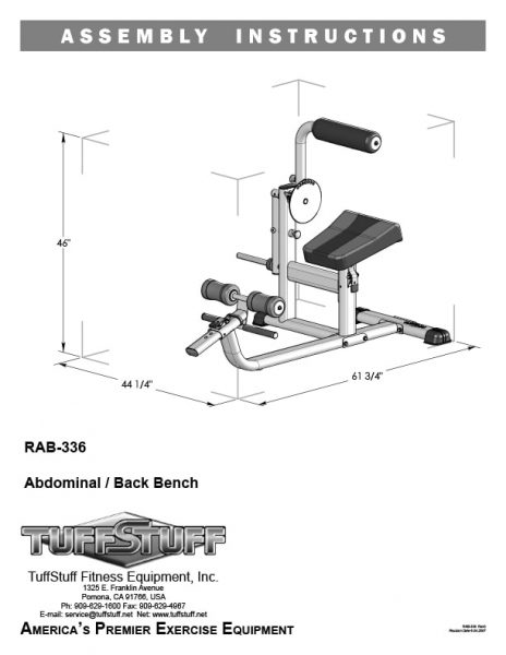 Ab / Back Bench (RAB-336)