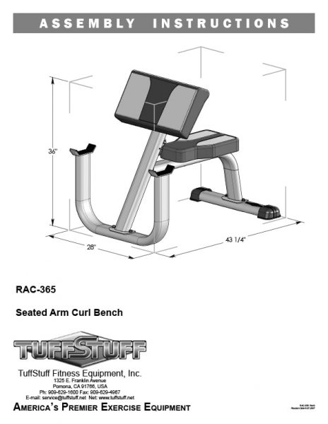 Seated Arm Curl Bench (RAC-365)