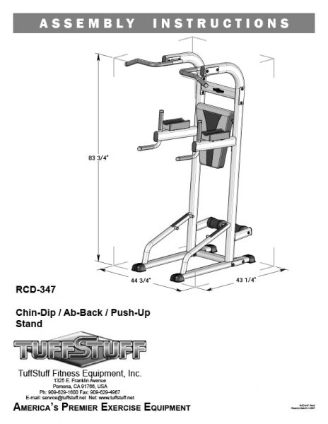 TuffStuff Chin-Dip / Ab-Back / Pull-up Stand (RCD-347)