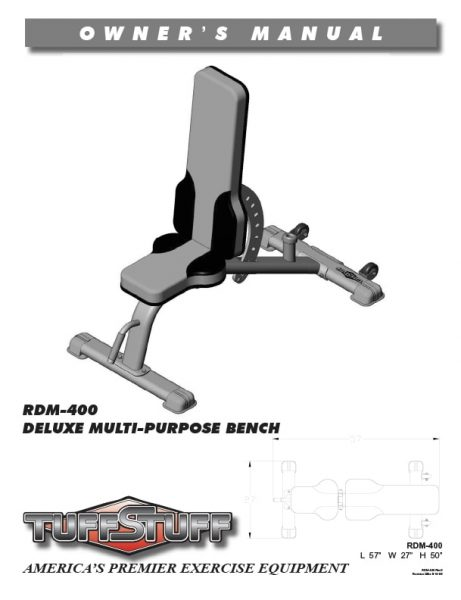 Deluxe Multi-Purpose Bench (RDM-400)
