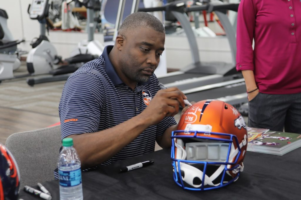 Rod Smith Signing Autographs at Fitness Gallery Grand Opening