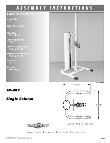 Simplex II Single Column (SP-407)