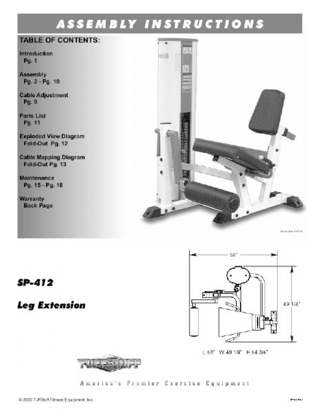 Simplex II Leg Extension (SP-412)