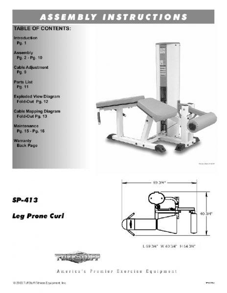 Simplex II Prone Leg Curl (SP-413)