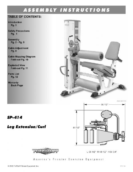 Simplex II Prone Leg Curl (SP-414)