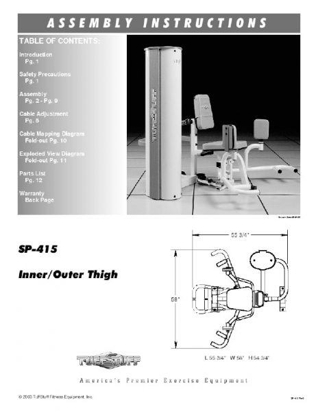 Simplex II Inner / Outer Thigh (SP-415)