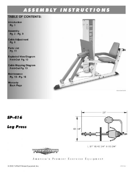 Simplex II Leg Press (SP-416)