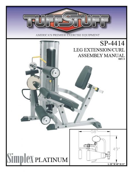 Simplex Platinum Leg Extension / Curl (SP-4414)