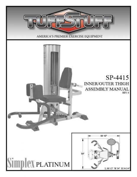 Simplex Platinum Inner / Outer Thigh (SP-4415)