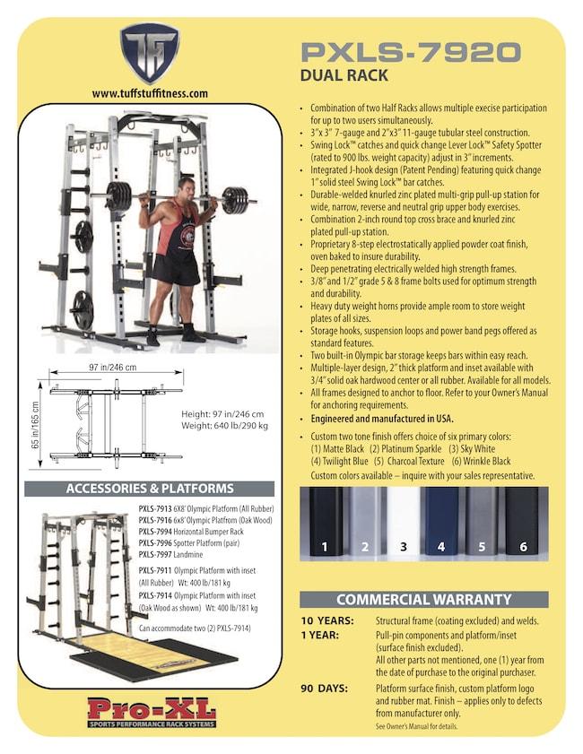 Spec Sheet - TuffStuff PRO-XL Dual Rack (PXLS-7920)-min