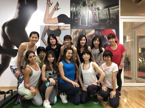 Spice Up Fitness members with Tomo Okabe