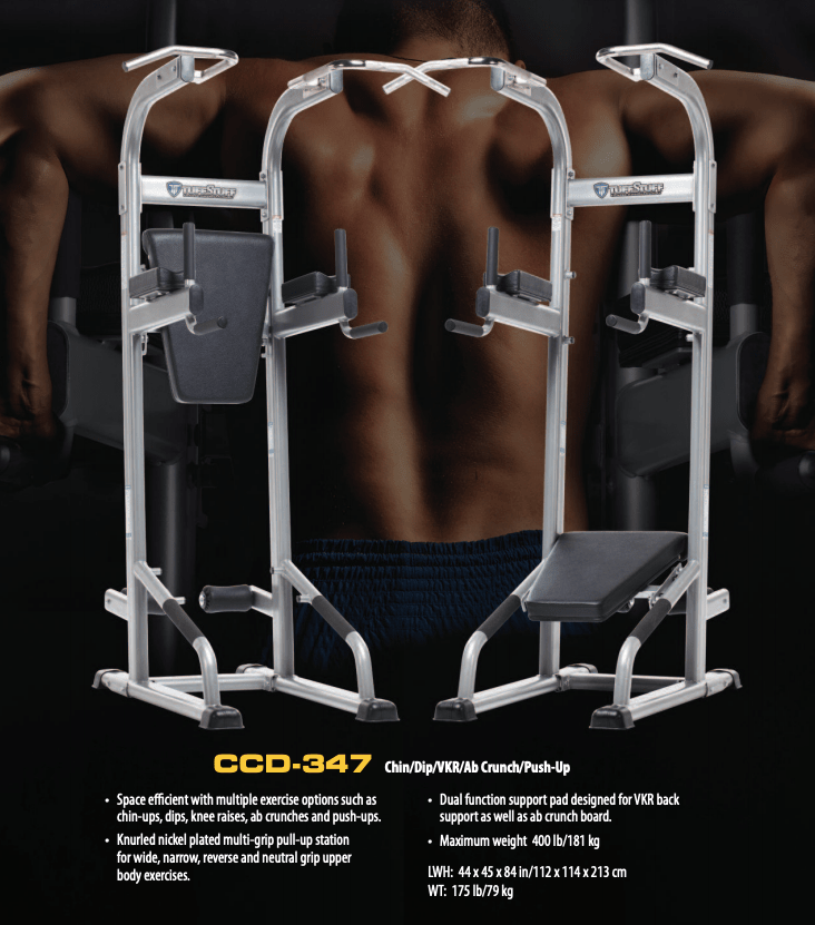 TuffStuff - Chin Dip VKR Ab Crunch Push Up Stand (CCD-347)