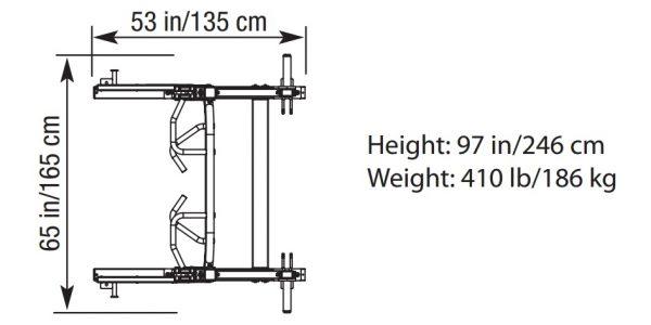 TuffStuff PRO-XL Half Rack Dimensions